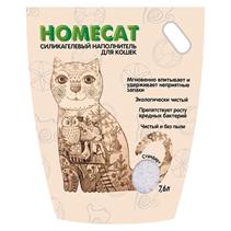 Homecat / Силикагелевый наполнитель Хоумкэт для кошачьего туалета Стандарт без запаха