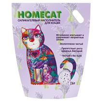 Homecat / Силикагелевый наполнитель Хоумкэт для кошачьего туалета аромат Лаванда