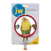 JW Ring Clear / Игрушка для птиц Кольцо с колокольчиком пластик
