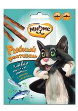 Мнямс Лакомство для кошек Рыбный фестиваль Лакомые палочки Лосось Форель