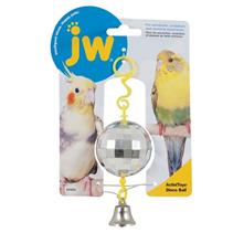 JW Disco Ball / Игрушка для птиц Зеркальный шар с колокольчиком пластик