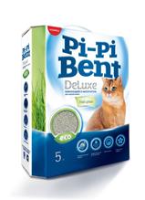 Pi-Pi Bent DeLuxe Fresh Grass / Наполнитель ПиПиБент для кошачьего туалета Комкующийся Свежая трава
