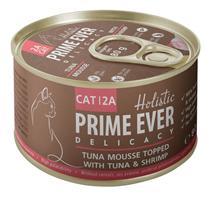 Prime Ever Cat 2A Delicacy Tuna mousse / Влажный корм Прайм Эвер для кошек мусс Тунец с Креветками (цена за упаковку)
