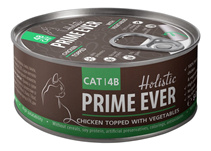 Prime Ever Cat 4B Chicken topped with Vegerables / Влажный корм Прайм Эвер для кошек Цыпленок с Овощами в желе (цена за упаковку)