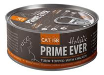 Prime Ever Cat 5B Tuna topped with Chicken / Влажный корм Прайм Эвер для кошек Тунец с Цыпленком в желе (цена за упаковку)