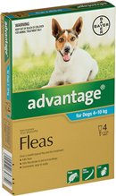 Bayer Адвантейдж / Капли на холку от Блох для собак весом от 4 до 10 кг