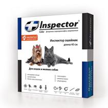 Inspector Collar / Ошейник Инспектор против Внешних и Внутренних паразитов для кошек и Мелких собак