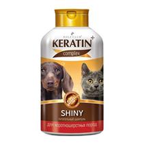 Rolf Club Keratin+ Shiny / Питательный шампунь Рольф Клуб Кератин+ для собак и кошек Короткошерстных пород