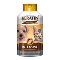 Rolf Club Keratin+ Intensive / Питательный шампунь Рольф Клуб Кератин+ для собак и кошек Жесткошерстных пород