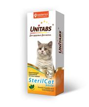 Unitabs SterilCat paste с Q10 / Витаминно-минеральная паста Юнитабс для Стерилизованных кошек и Кастрированных котов