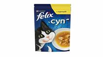 Felix Суп / Влажный корм Паучи Феликс для взрослых кошек Суп с Курицей (цена за упаковку)