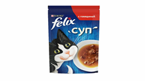 Felix Суп / Влажный корм Паучи Феликс для взрослых кошек Суп с Говядиной (цена за упаковку)
