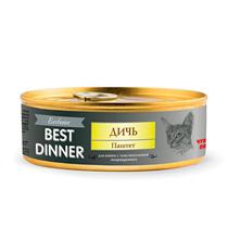 Best Dinner Exclusive / Консервы Бест Диннер для кошек Паштет Дичь (цена за упаковку)