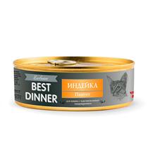 Best Dinner Exclusive / Консервы Бест Диннер для кошек Паштет Индейка (цена за упаковку)