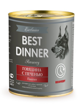 Заказать Best Dinner Exclusive Recovery / Консервы для собак Говядина с печенью Паштет Цена за упаковку по цене 1750 руб