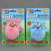 """Fat Cat Fluff Bunnies Toy / Игрушка Фэт Кэт мягкая для кошек """"Пушистый кролик"""""""