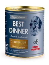 Best Dinner Super Premium / Консервы Бест Диннер для собак Мясные деликатесы с Перепелкой (цена за упаковку)