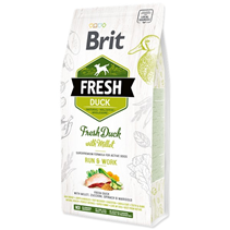 Brit Fresh Active Run & Work Duck with Millet / Сухой корм Брит для Активных собак Утка пшено