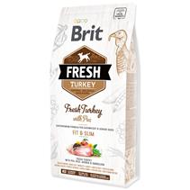 Brit Fresh Light Fit & Slim Turkey with Pea / Сухой корм Брит для собак Контроль веса Индейка горох