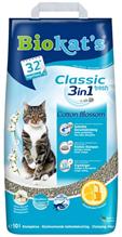 Заказать Biokats Classic Fresh 3in1 Cotton Blossom / Комкующийся наполнитель для кошачьего туалета с Ароматом хлопка по цене 970 руб
