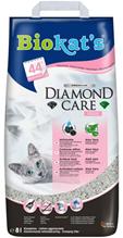 Biokats Diamond Care Fresh / Комкующийся наполнитель Биокэтс для кошачьего туалета с Активированным углем и Алоэ вера