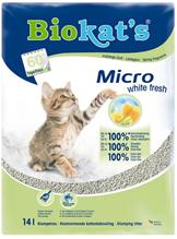 Заказать Biokats Micro White Fresh / Комкующийся наполнитель для кошачьего туалета по цене 1750 руб