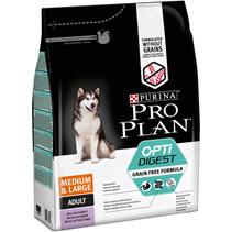 Purina Pro Plan Medium & Large Adult OptiDigest Grain Free Turkey / Сухой Беззерновой корм Пурина Про План для взрослых собак Средних и Крупных пород с Чувствительным пищеварением Индейка