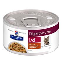 Hills Prescription Diet Feline i / d / Лечебные консервы Хиллс i/d для кошек Заболевание ЖКТ (нарушение пищеварения) Рагу с Курицей и добавлением овощей (цена за упаковку)