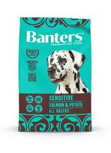 Banters Sensitive Salmon & Potato / Сухой корм Бантерс для взрослых собак всех пород с Чувствительным пищеварением Лосось картофель