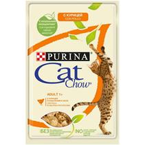 Заказать Purina Cat Chow Chicken / Паучи для кошек с Курицей и кабачками в желе Цена за упаковку по цене 120 руб