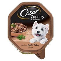 Cesar Country Kitchen / Консервы Цезарь для собак Рагу Говядина & Индейка в соусе (цена за упаковку)