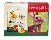 Заказать Versele-Laga Nature Cuni / Набор корм для Кроликов 700г + Лакомство Snack Veggies 85г + Жестяной контейнер по цене 460 руб