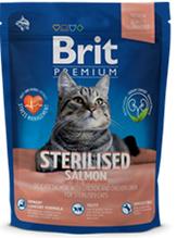 Brit Premium Sterilised Salmon / Сухой корм Брит Премиум для Стерилизованных кошек Лосось, курица и куриная печень