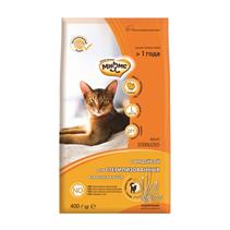 Мнямс Sterilized Сухой корм для Стерилизованных кошек с Индейкой