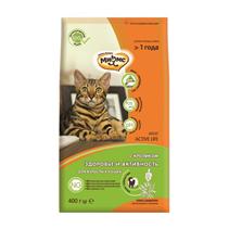 Мнямс Active Life Сухой корм для взрослых кошек с Кроликом