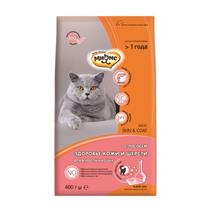Мнямс Skin & Coat Сухой корм для взрослых кошек для кожи и шерсти с Лососем