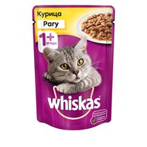 Whiskas Chicken / Паучи Вискас для взрослых кошек Курица рагу (цена за упаковку)