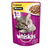 Whiskas Chicken / Паучи Вискас для взрослых кошек Курица в желе (цена за упаковку)