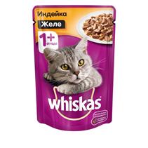 Whiskas / Паучи Вискас для кошек Желе Индейка (цена за упаковку)
