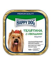 Happy Dog / Паштет Хэппи Дог для взрослых собак Мелких пород Телятина с овощами (цена за упаковку)