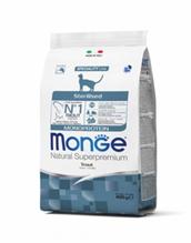 Monge Cat Monoprotein Sterilised Trout / Сухой корм Монж Монопротеиновый для Стерилизованных кошек Форель