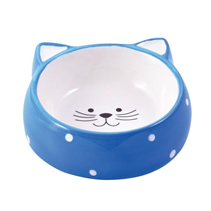 КерамикАрт / Миска керамическая для кошек Мордочка кошки 250 мл
