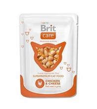 Brit Care Chicken & Cheese / Паучи Брит для кошек Курица и сыр (цена за упаковку)