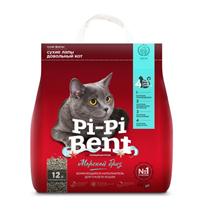 Pi-Pi-Bent / Наполнитель для кошачьего туалета ПиПиБент Морской бриз Комкующийся