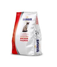 Sirius / Сухой корм Сириус для взрослых кошек Мясной рацион