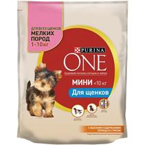 Purina One Dog Мини / Сухой корм Пурина Уан для Щенков Мелких пород весом от 1 до 10 кг Курица рис