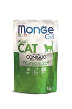 Monge Grill buste Adult coniglio / Влажный корм Паучи Монж для взрослых кошек Итальянский кролик (цена за упаковку)