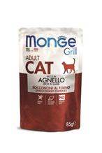 Monge Grill buste Adult agnello / Влажный корм Паучи Монж для взрослыз кошек Новозеландский ягненок (цена за упаковку)