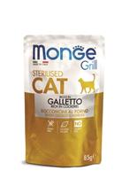 Monge Grill buste Sterilized galletto / Влажный корм Паучи Монж для Стерилизованных кошек Итальянская курица (цена за упаковку)
