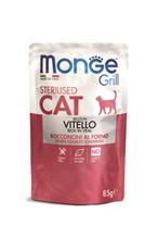 Monge Grill buste Sterilized vitello / Влажный корм Паучи Монж для Стерилизованных кошек Итальянская телятина (цена за упаковку)